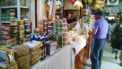Inside the Mercado Central in Huaraz, Peru