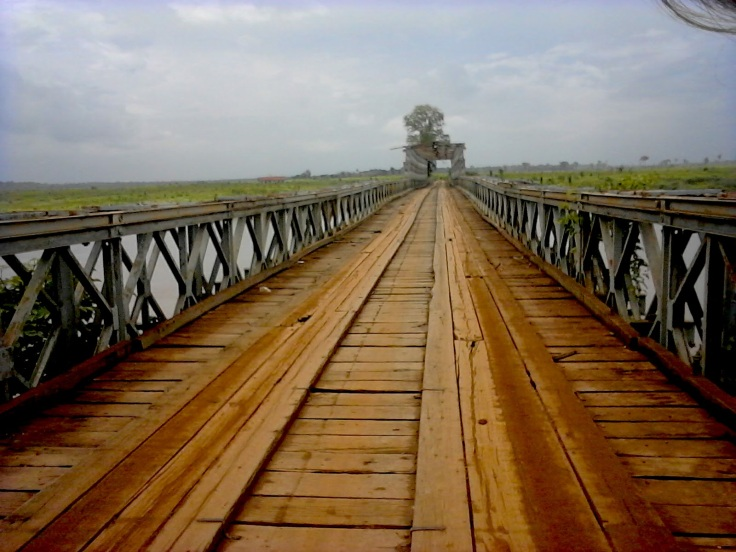 Rickety Bridge near Stung Treng, Cambodia, Into Foreign Lands