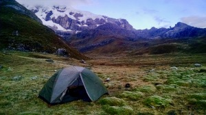 Laguna Carnicero Campsite Cordillera Huayhuash