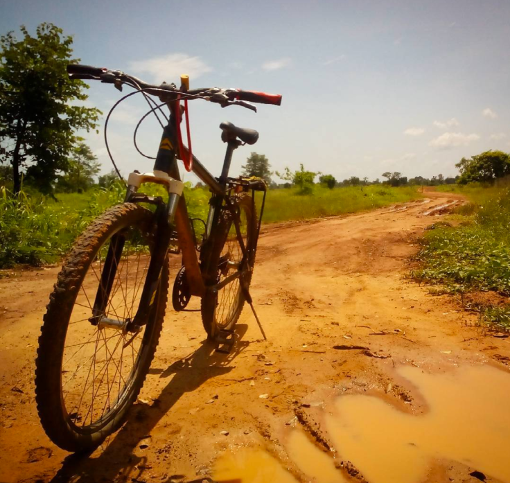 My mountain bike outside Preah Vihear on the Ride Across Cambodia