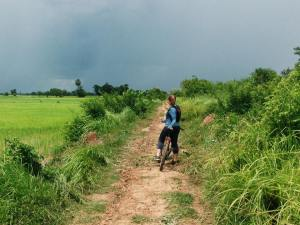 BIke Tour Through the Cambodian rice fields