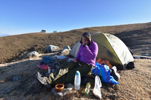 camping in Peru alpamayo trek