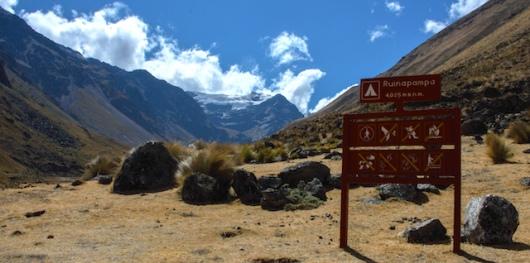 Ruina Pampa Camp Alpamayo Circuit Trek