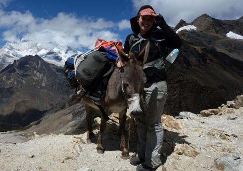 Megan and Donkey Alpamayo Circuit Peru
