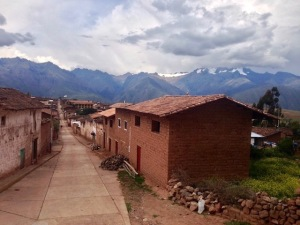 view from Maras village