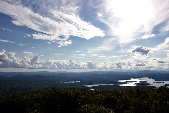 View of Lake Winnisquam from Red Hill Trail