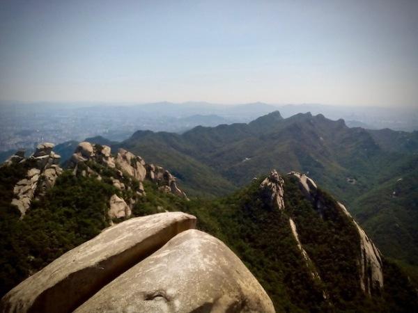View from Baegundae Peak