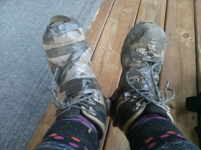 boots destroyed on franconia ridge trail