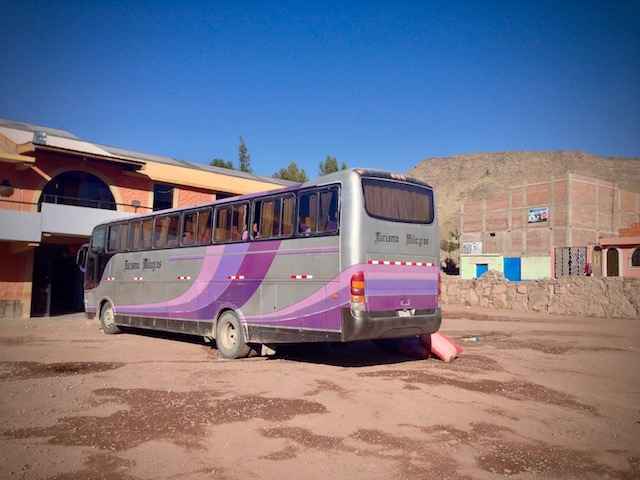 bus to Colca Canyon