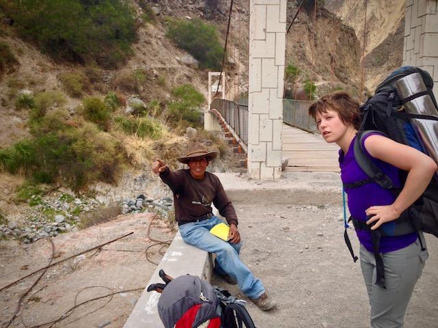bridge before san juan de chuccho colca canyon