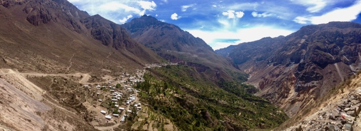 Colca Canyon without a Guide view from malata