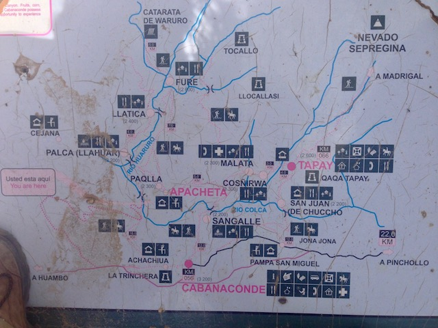 Map of Colca Canyon Trek