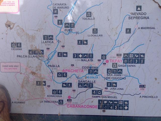 Map of Colca Canyon Trek