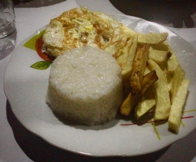 meal in llahuar peruvian food papas y arroz con huevo