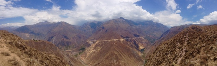 Colca Canyon view from the top
