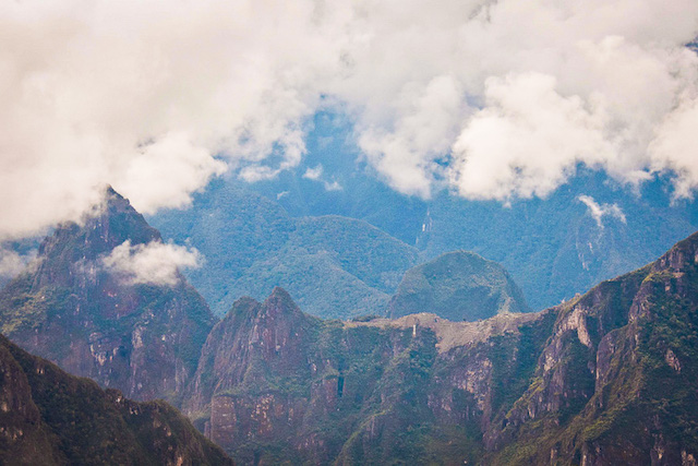 overlooking machu picchu from llactapata
