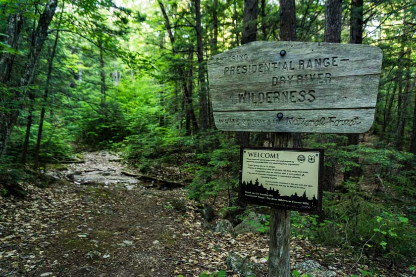 Entering the Dry River Wilderness, New Hampshire