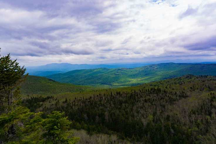 Green Mountain views from Camels Hump Vermont