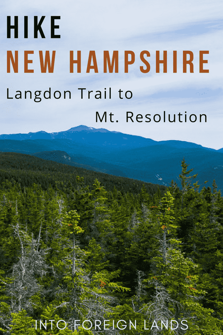 Hiking the Langdon Trail to Mount Resolution: An overnight backpacking trip in New Hampshire's White Mountains