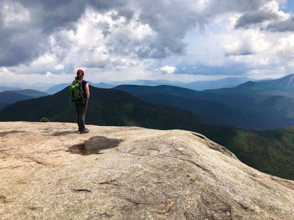 Megan standing on Osceola Peak
