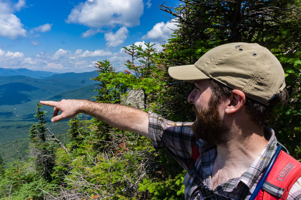 erich points towards the pemigewasset