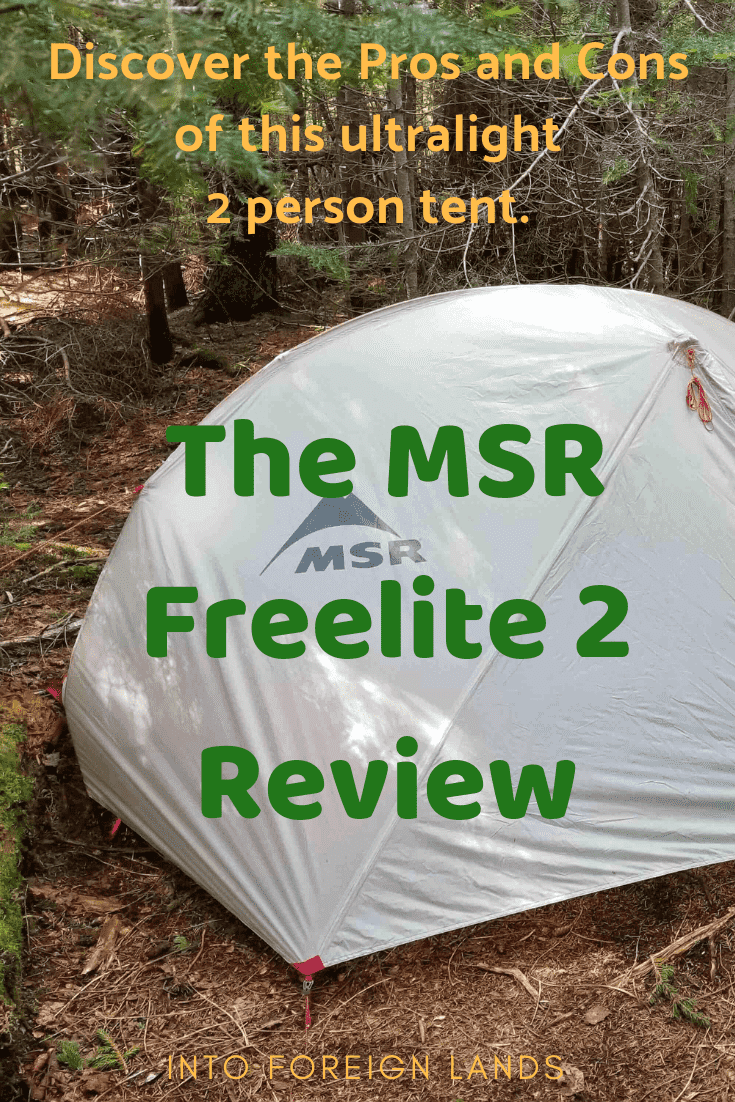 Read a review of the MSR Freelite 2 Ultralight Backpacking tent