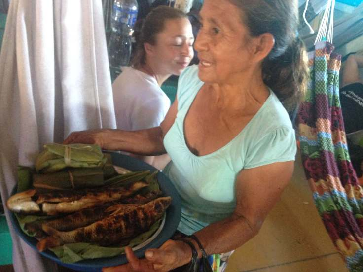woman selling food