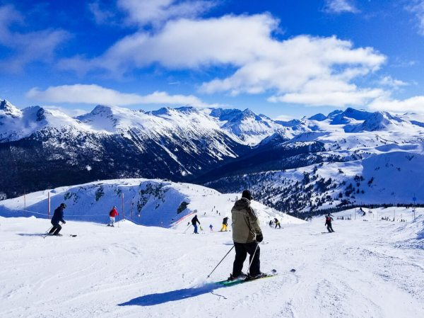 skiing at whistler