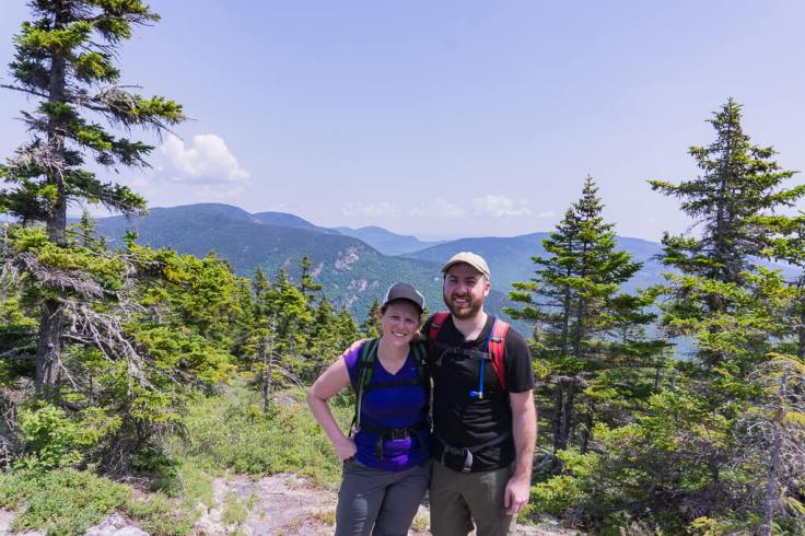 megan and erich on mount meader in the white mountains of New Hampshire
